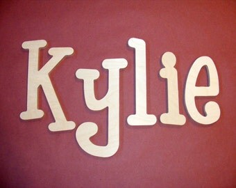 "10"" Wooden Wall Nursery Letters- Unpainted-Unfinished- Nursery Decor- ABC Wall- Wall Hanging"