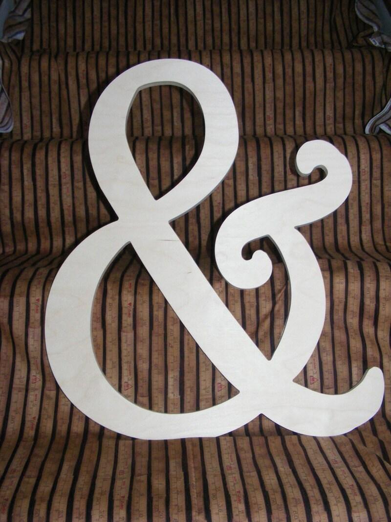 10 diy wooden ampersand alphabet letters diy for Ampersand decoration etsy