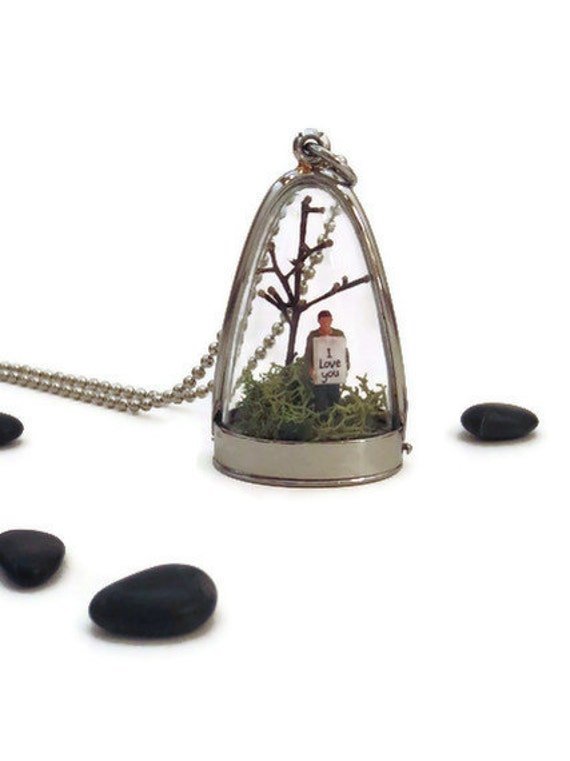I love you .... Message in a Bottle, Love Poem,  Message Necklace, Terrarium Necklace, Inspirational Quote Message
