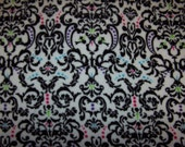 Damask with black minky fabric- pillow blanket