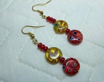 "Red & Yellow ""Italian Glass Style"" beads"