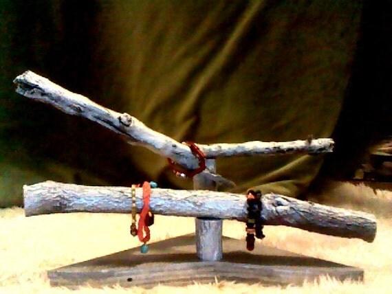 Silver branch bracelet holder