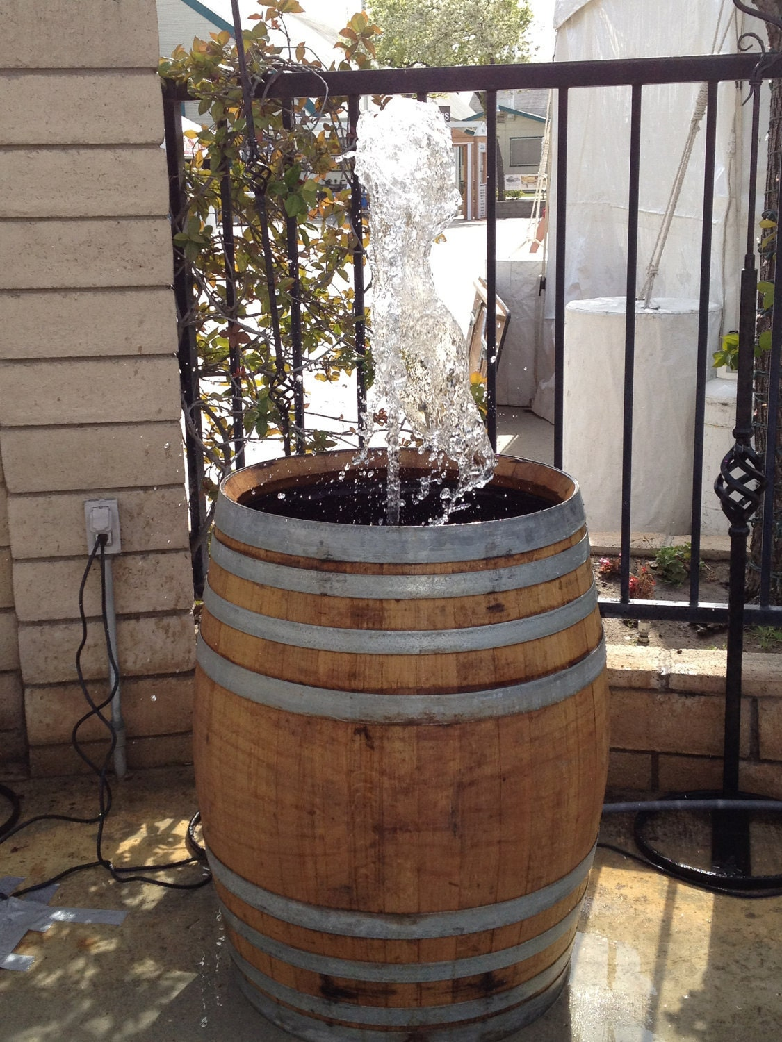 Wine Barrel Fountain By Wyldatheartcustoms On Etsy