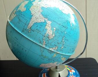 """Vintage Metal 10"""" Globe"""