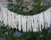 Wedding Garland, french cottage, Anthropologie Inspired Garland, Shabby Chic  Garland, Window Valance, Rustic Garland, Vintage , Beach,
