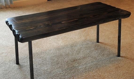 Metal leg coffee table