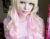 Pale Blonde & Candy Pink Gradient Lolita Wig