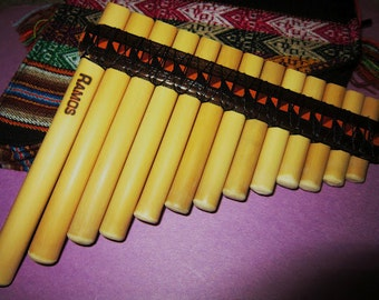 Professional small pan flute antara 13 pipes - case included