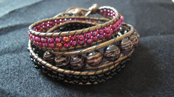 Triple wrap bead bracelet