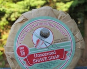 unscented beer shave soap