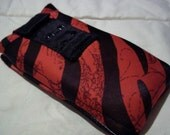 Private Pillows Pouch in Red Zebra