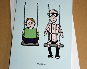 Swingers Greeting Card (Blank)