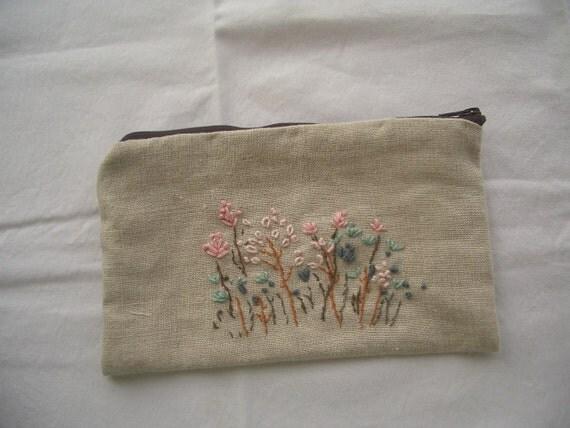 wild flower pouch