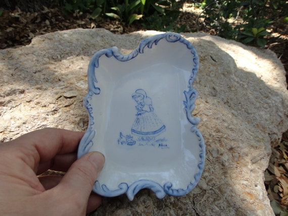 Blue and White Alice Hand Painted Dish