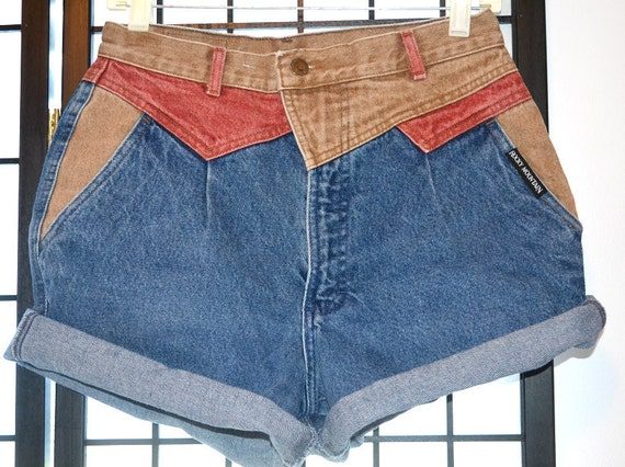 High-Waisted Unique Rolled Shorts