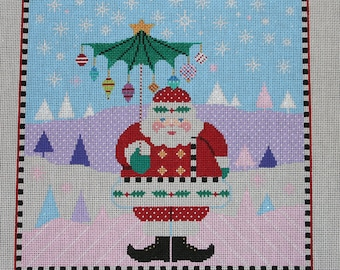 Santa with Pastel Background