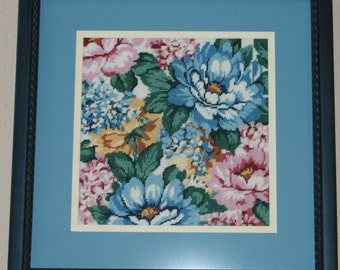 Blue Floral Set of Two