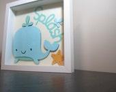 Splash Whale Nursery Art Customizable