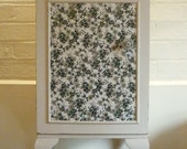 SOLD Gorgeous Vintage Bedroom/Bathroom/Hallway Cabinet Hand Painted with Decoupage Panel
