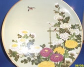 Tree Sparrow and Chrysanthemum Collector's Plate from Birds and Flowers of the Orient Series