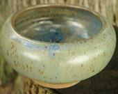 The Green Egg - Handmade Stoneware Bowl with Footrim