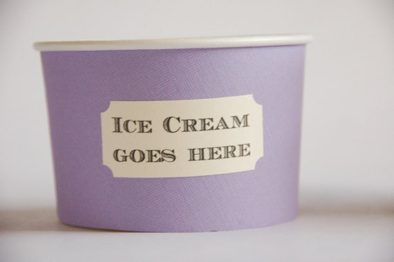 Ice Cream Social Cups - Completely Customizable, Perfect for Socials, Parties, Birthdays, Showers, and Holidays