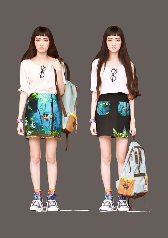 FABITORIA digital printed skirt - 10