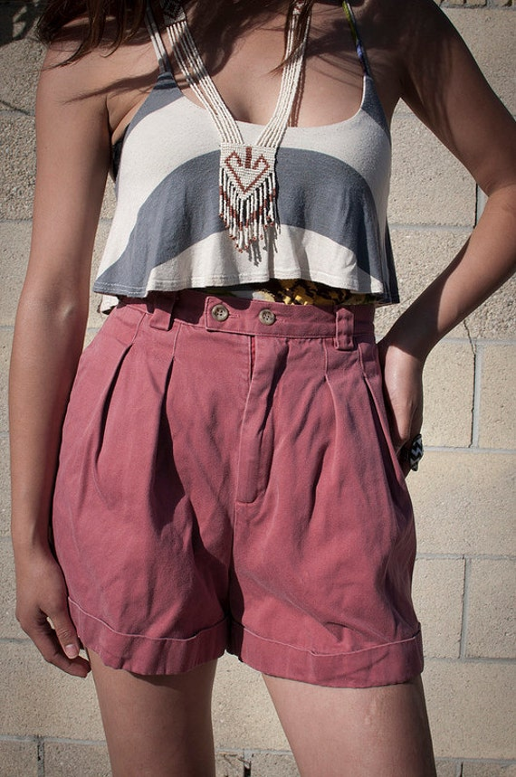 Gap red high waisted jean shorts