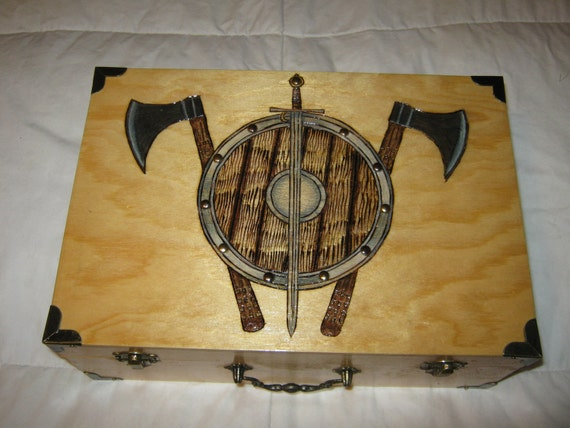 Viking Shield, Hatchets and Sword