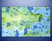 "Abstract Painting ""Beached Aquarium"" - Original Art from Ease the Soul Artworks by Jackson P"