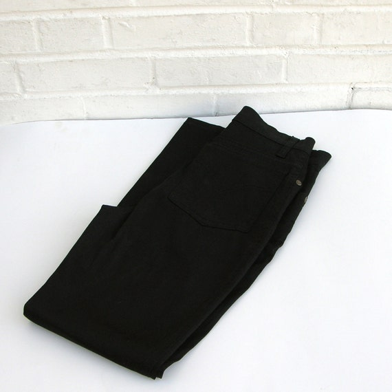 1980s Moschino Jeans Black Skinny Pants