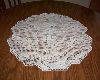 "11)  ""ROSE OF SHARON"" handmade crochet doilies"