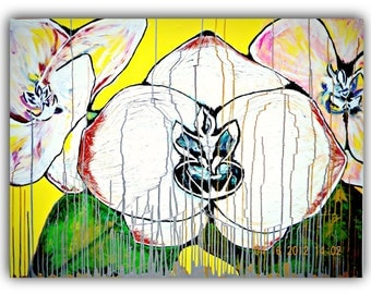 """Original Painting for Sale Signed by Artist  """"Orchid Rain"""""""