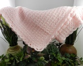Beautiful Pink Hand Crocheted Baby Blanket
