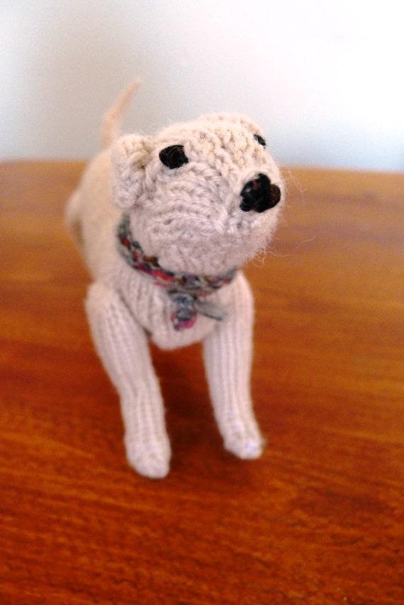 Hand knitted Labrador Dog