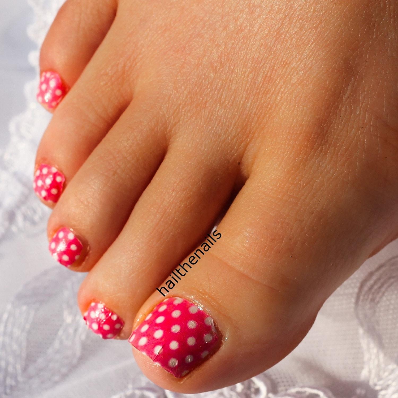 Polka Dot Nail Art: Pink Polka Dot Nail Art Water Transfer Decal Y421 By