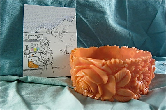 Bangle dreamed up by an unsung hero of science: Original drawing & vintage bangle