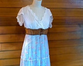 Vintage Bohemian Blue Sundress