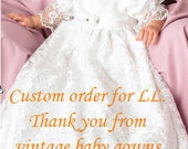 Your baby gown created from authentic vintage 1950's wedding gown