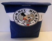 Reusable Lunch Bag Mickey in Blue Denim