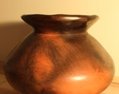 Decorative Earthenware Sawdust-Fired Clay Coil Pot