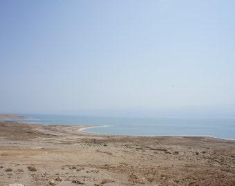 Blue.    Featuring the Dead Sea, Israel Ocean Jordan water beach Old Places  8x10