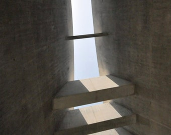 Hope.   Yad Vashem, Jerusalem, Israel. Architecture Holocaust Museum Light line Gray 8x10
