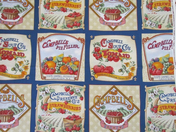 RESERVED FOR mcgowan434   Campbell Soup Fabric     destash  35