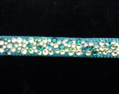 Dog Leash Handmade Swarovski Crystal Green