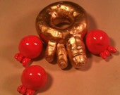 Toenut Set - set of 4 plastic donut toys