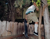 "Drew hopping fence, Los Angeles CA - Signed 8x10"" digital c-print"