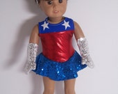 American Girl Doll Clothes Fourth of July Dance Set