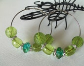 Baketball Wives Inspired...Lime Green Crystals and Silver Rhinestone Spacers