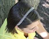 Braided Headband - Black & White